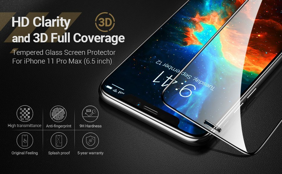 CASEKOO iPhone 11 Pro Max Screen Protector