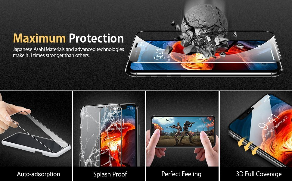 iPhone 11 Screen Protector Clear Tempered Glass