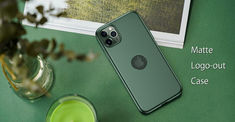 CASEKOO iPhone 11 Pro Midnight Green Matte Case With Logo Cut Out