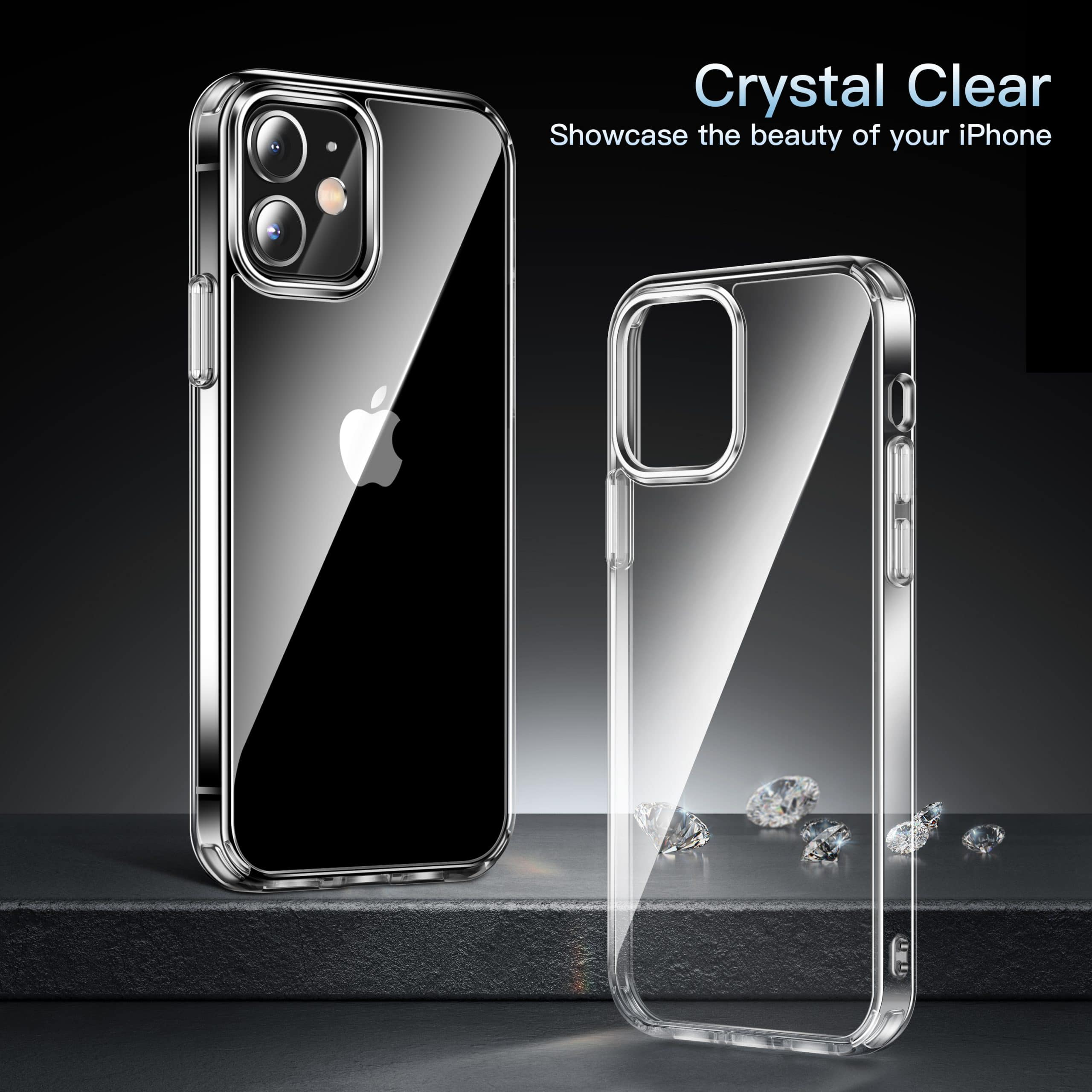 2 CASE iPhone 12 Mini 5.4 Clear Crystal Case Soft Shockproof Protective USA  eBay