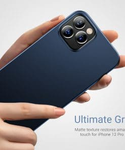 iPhone 12 matte blue case