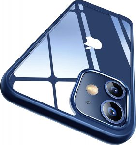iPhone 12 clear case blue