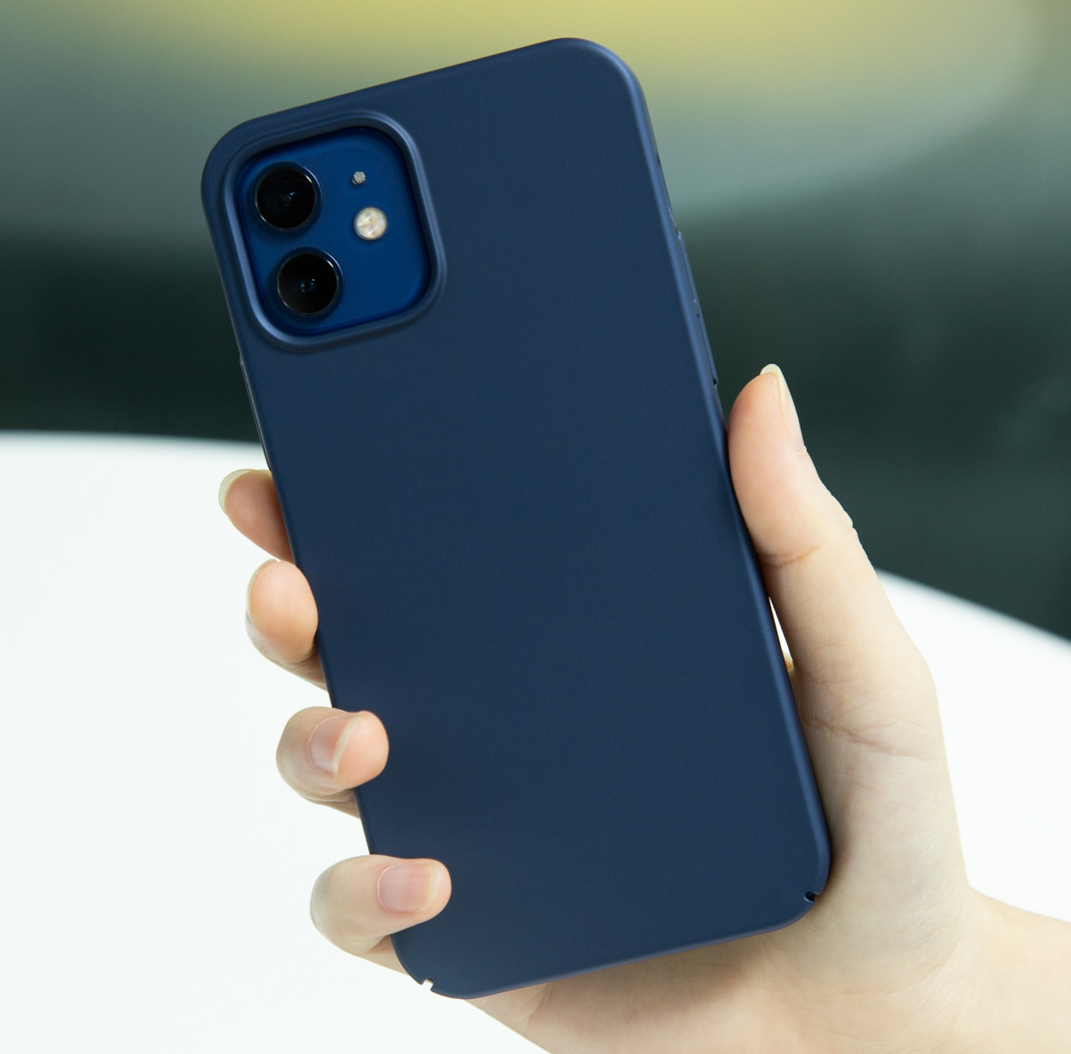 casekoo iPhone 12 matte case blue