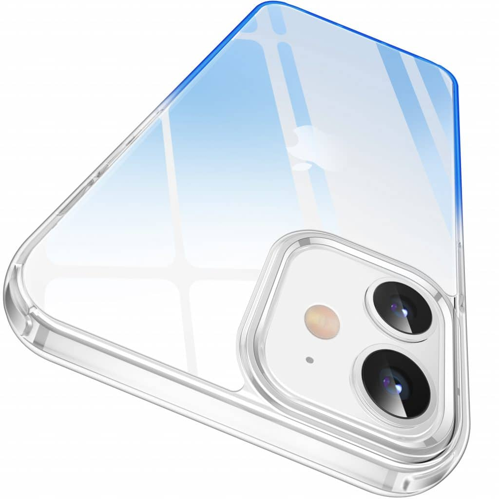 casekoo iPhone 12 clear blue case