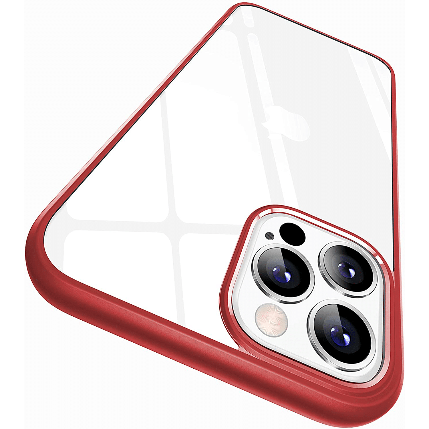 iPhone 12 pro clear case red
