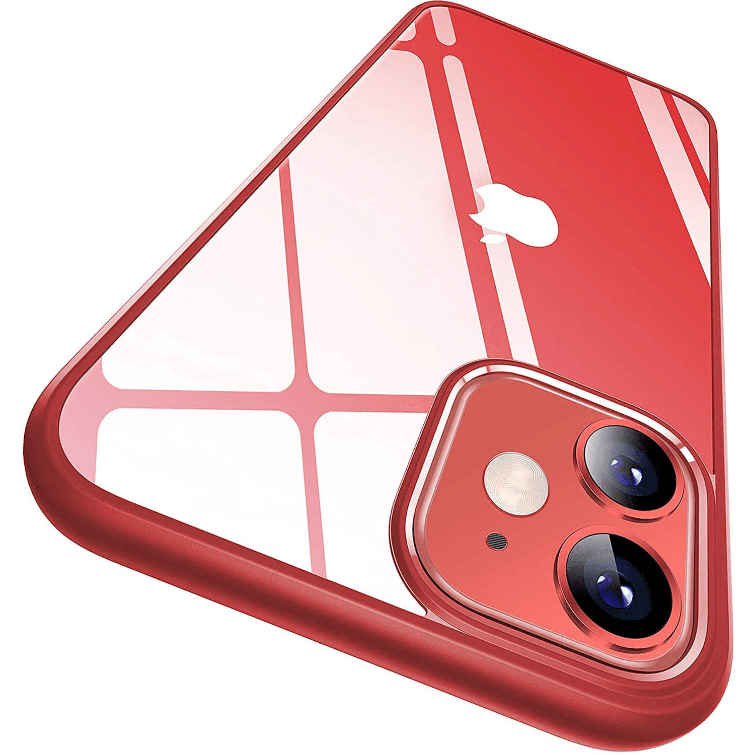 iphone 12 clear case red