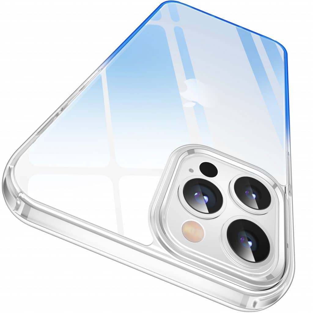 clear protective case gradient blue